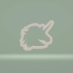 c1.png Download STL file cookie cutter unicorn head • 3D printer model, nina_hynes