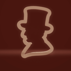 c1.png Download STL file cookie cutter Abraham Lincoln • 3D printer object, nina_hynes