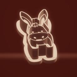 c1.png Download STL file cookie cutter stamp donkey set • 3D printer object, nina_hynes