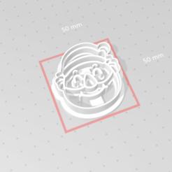 c1.png Download STL file cookie cutter stamp santa faces set • 3D printing design, nina_hynes
