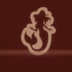 c1.png Download STL file cookie cutter mermaid • 3D printer object, nina_hynes