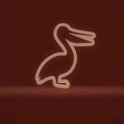 c1.png Download STL file cookie cutter pelican bird • 3D printing model, nina_hynes