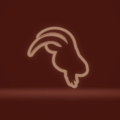 c1.png Download STL file cookie cutter goat head • 3D printing model, nina_hynes