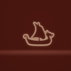 c1.png Download STL file cookie cutter viking boat • 3D printable model, nina_hynes