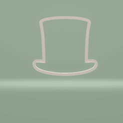 c1.png Download STL file cookie cutter abraham lincoln hat • Design to 3D print, nina_hynes