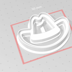c1.png Download STL file cookie cutter stamp cowboy hat • 3D print template, nina_hynes
