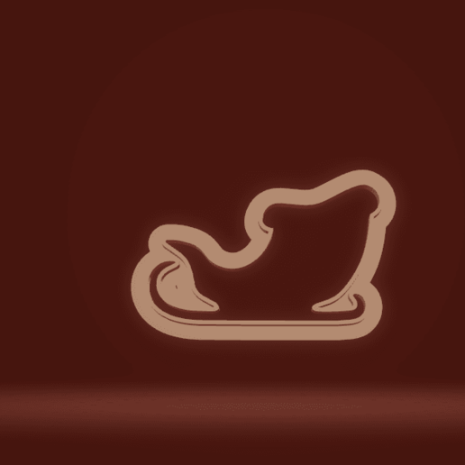 Download Stl File Cookie Cutter Santa Claus Sleigh 3d Printing Template Cults