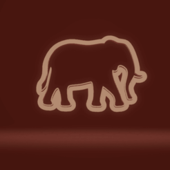 c1.png Download STL file cookie cutter elephant • 3D print template, nina_hynes