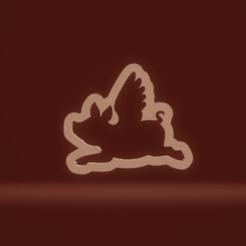 c1.png Download STL file cookie cutter flying pig • 3D printing model, nina_hynes