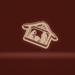 c1.png Download STL file cookie cutter stamp nativity silhouette • 3D printer object, nina_hynes