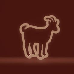 c1.png Download STL file cookie cutter goat • 3D printable design, nina_hynes