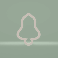 c1.png Download STL file cookie cutter  Christmas bell • 3D printing model, nina_hynes
