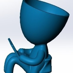 Robert_working_dog3.jpg Download STL file ROBERT VASE WORKING FROM HOME • 3D printable model, autentico3d