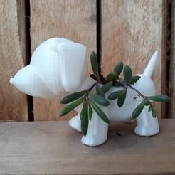 Download 3D printer designs Plant vase the dog, autentico3d