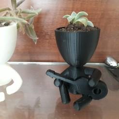 Download 3D printer designs Plant vase the guitar, autentico3d