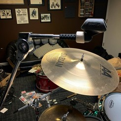 6261441141 copy.jpg Download STL file Cymbal Stand to Standard Microphone Mount Adapter • 3D printing model, LKCreates