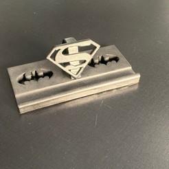 Télécharger objet 3D gratuit support téléphone ou tablette superman / batman, ju44