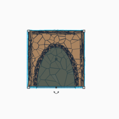 Tunnel_wall.png Download free STL file O Scale Fake Rock Trane Tunnel   • 3D printer model, adddrones