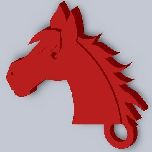 Download free 3D printer designs Horsehead Keychain, Wachet