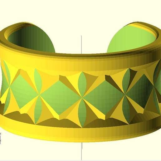 Download free 3D printing templates Knurled Bracelet No2, Wachet