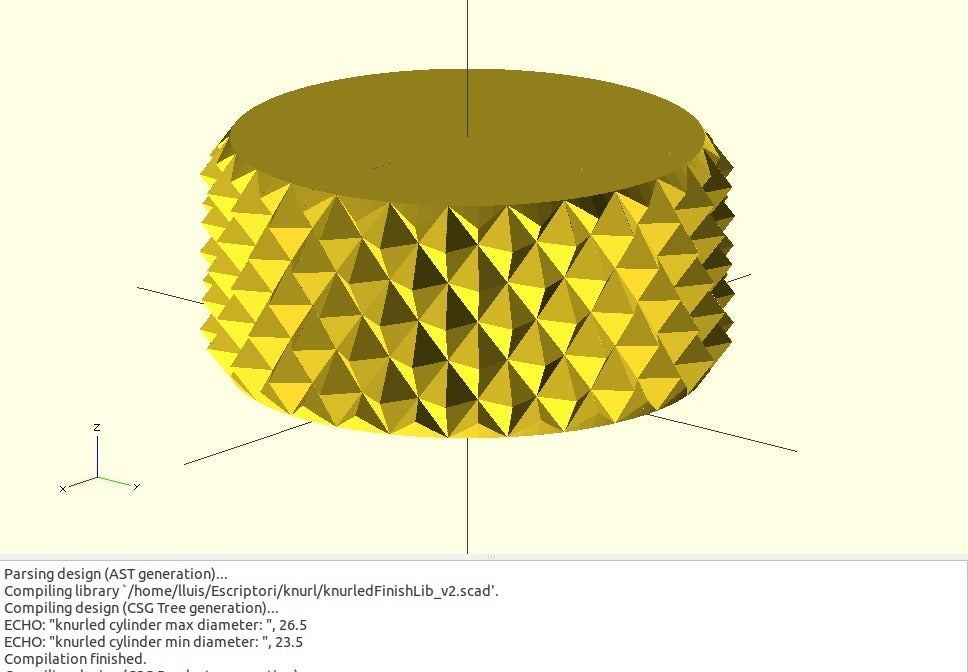 knur_info.jpg Download free SCAD file Knurled Surface Library v2 • 3D printing design, Wachet