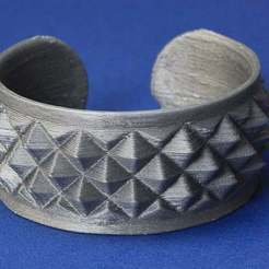 Download free 3D printer designs Knurled Bracelet No1, Wachet