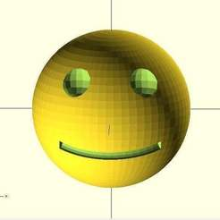 Download free 3D printer templates Smiley, Wachet