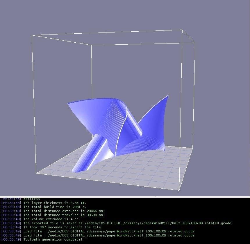 half100x100_display_large.jpg Télécharger fichier STL gratuit Moulin à vent en papier (polyhedra-folie) • Objet pour imprimante 3D, Wachet