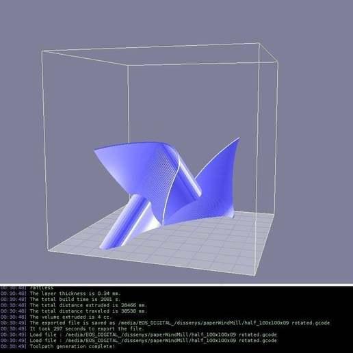 Télécharger objet 3D gratuit Moulin à vent en papier (polyhedra-folie), Wachet