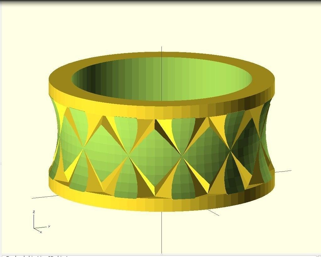 qausiKnurledRing_display_large.jpg Télécharger fichier SCAD gratuit Bague Quasi moletée • Plan pour imprimante 3D, Wachet