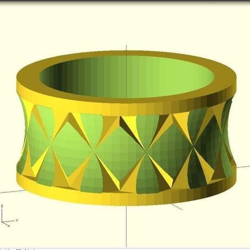 Télécharger fichier imprimante 3D gratuit Bague Quasi moletée, Wachet