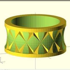 Download free 3D printing templates Quasi Knurled Ring, Wachet