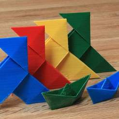 Download free 3D printer templates Paper Folding Models, Wachet
