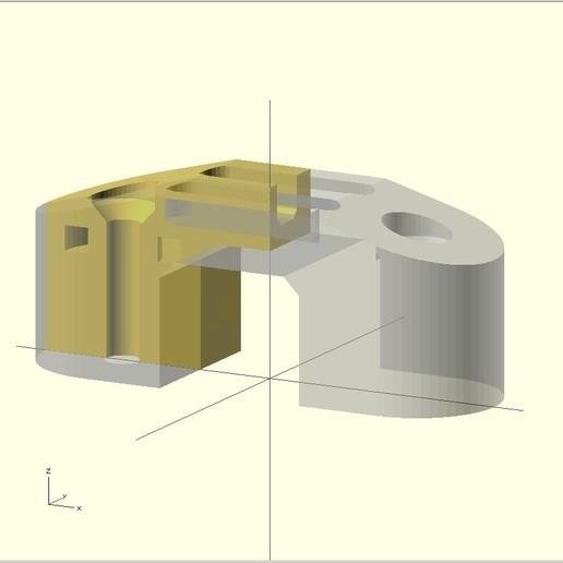 cross_section.jpg Download free SCAD file IKEA Antonius Wall Mount • 3D printable object, Wachet