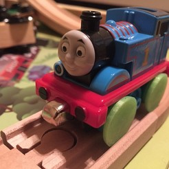 Download free STL files Thomas The Train Wheel Conversion (take-n-play to wooden), Nessun_Dorma
