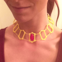 2014-10-30_21.29.21_-_Copy.png Download free STL file Melisandre's Ruby Choker, Necklace • Template to 3D print, Nessun_Dorma