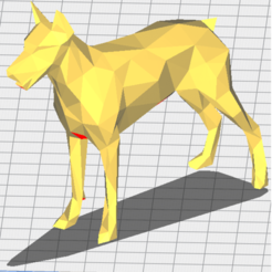 doberman orejas gruesas.png Download STL file Doberman Low Poly (dog) • 3D print design, RobertDTA