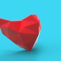 Low Poly Mask Red.jpg Download STL file Low Poly Face Mask Covid-19 • Design to 3D print, stanlinz