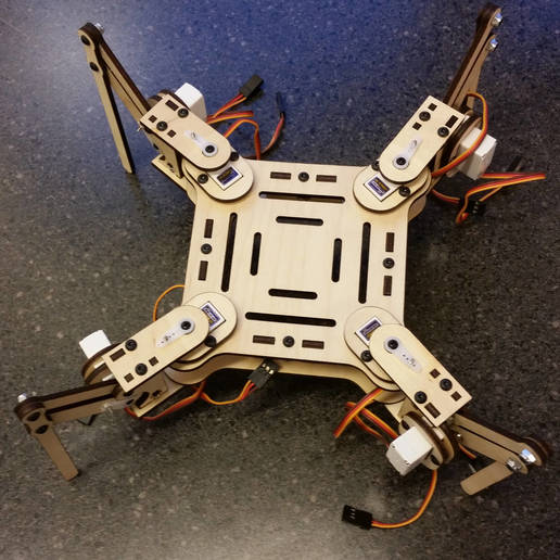 mePed_.01a_-_2.jpg Download free STL file mePed Quadruped Robot • 3D printing template, MinorSymphony