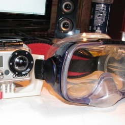 Go_Pro_Scuba_Mount.jpg Télécharger fichier STL gratuit Support pour masque de plongée GoPro • Modèle pour impression 3D, MinorSymphony