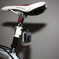 Download free STL GoPro Seatpost Mount, MinorSymphony