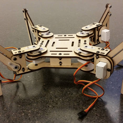 mePed_.01a_-_1.jpg Download free STL file mePed Quadruped Robot • 3D printing template, MinorSymphony
