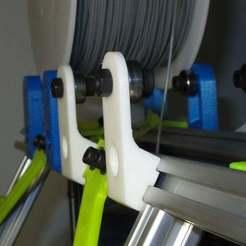 Descargar modelo 3D gratis Soporte de bobina MendelMax súper simple., MinorSymphony