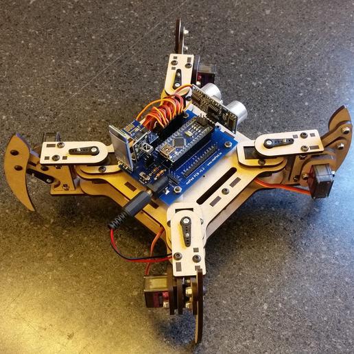 Download free 3D model mePed v2 Quadruped Robot, MinorSymphony