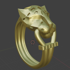 Download 3D model panther ring, lalo519544