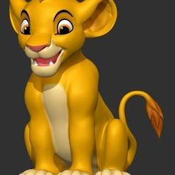 Descargar STL Simba rey león, CGPRINTER