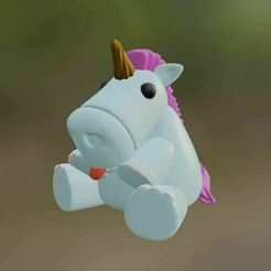 img02.JPG Download STL file Chubby unicorn Toy • 3D printer template, GatoNegro