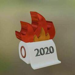 Captura01.JPG Download STL file 2020 on fire • 3D printable model, GatoNegro