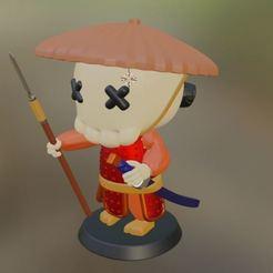 Captura4.JPG Download 3MF file Samurai Toy Figure • 3D printing template, GatoNegro