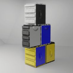 Stacked.png Download free STL file Another Stackable Drawer Boxes • Design to 3D print, nightmare670